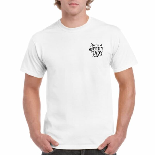 The Jerky Lady heavy T-shirt white front print