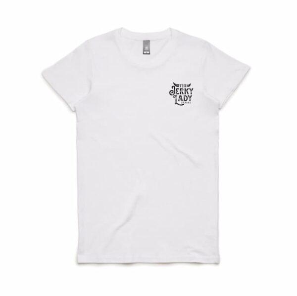 The Jerky Lady Women T-shirt white front print